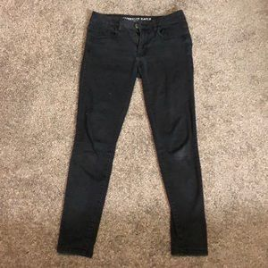 Black American Eagle super super stretch jeggings
